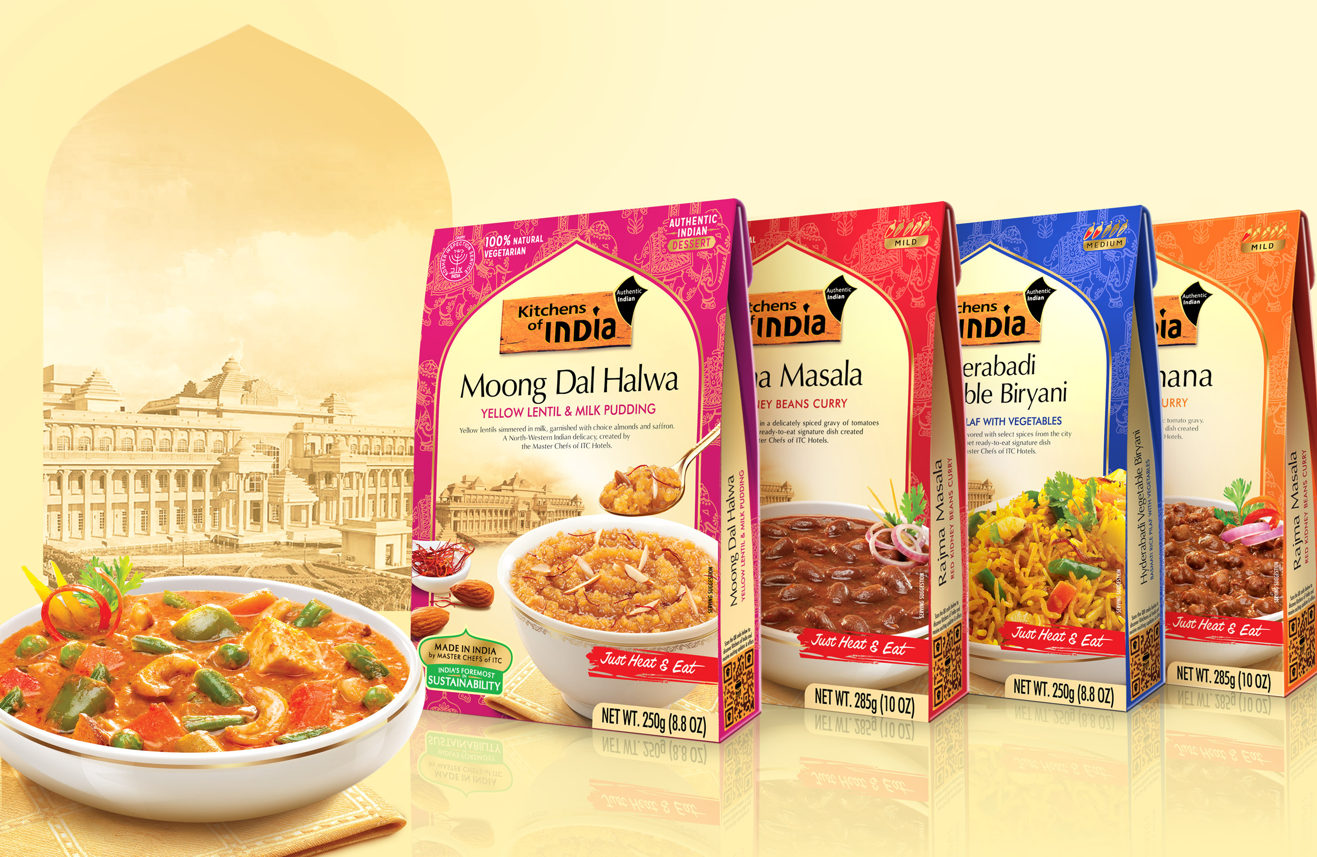 Branding and packaging design for ready to eat, authentic Indian food product from ITC foods, India