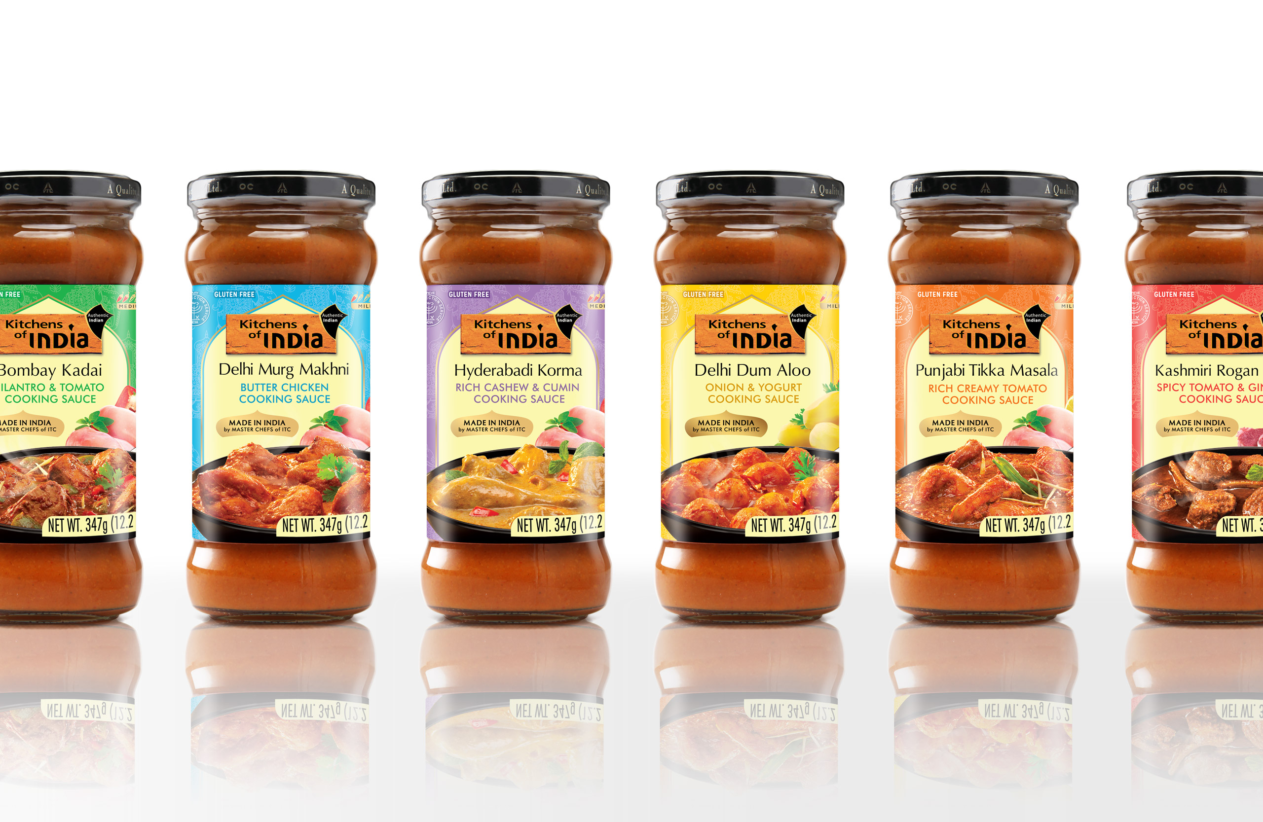 Authentic Indian cooking sauces branding, packaging and label design for ITC foods, India