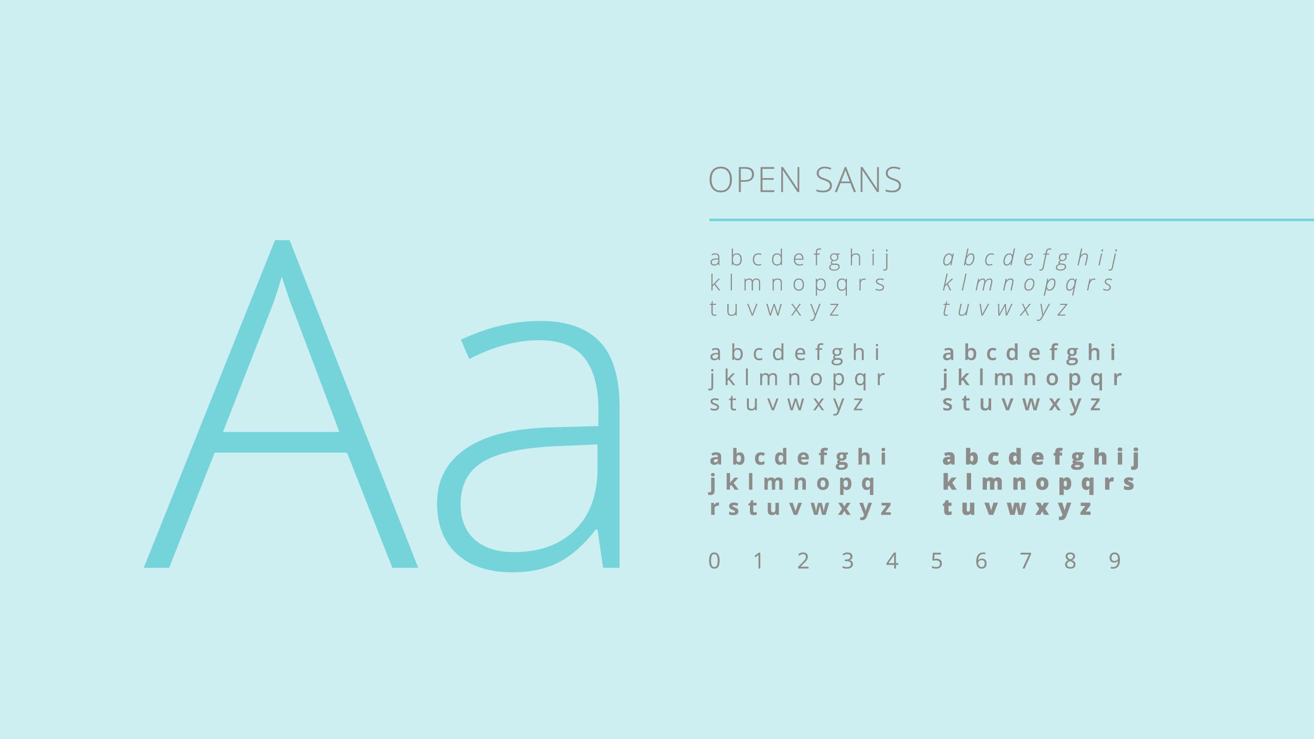 Font family selected for Advamedica branding