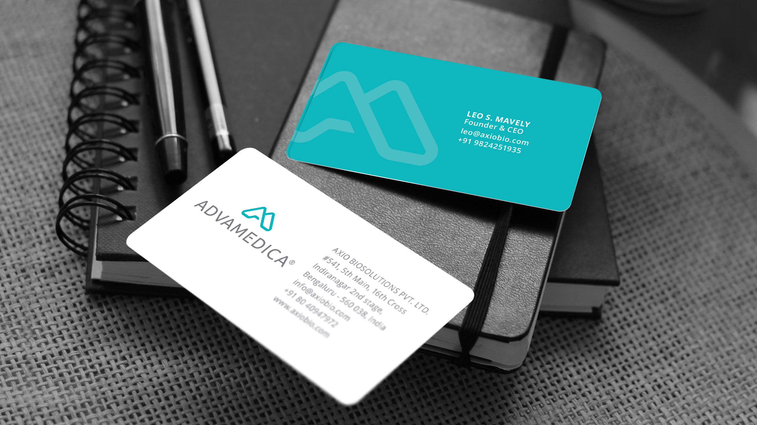 Stationery and collateral design for Advamedica
