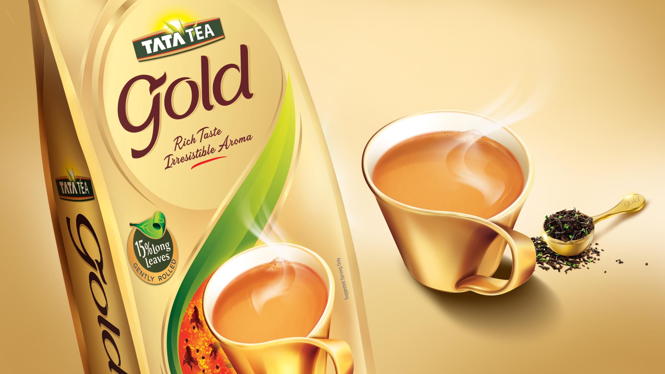 Tata Tea Gold Brand Identity, Pack Design